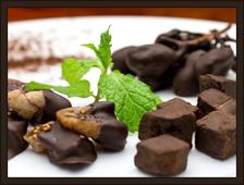 自家製チョコレート盛り合わせ